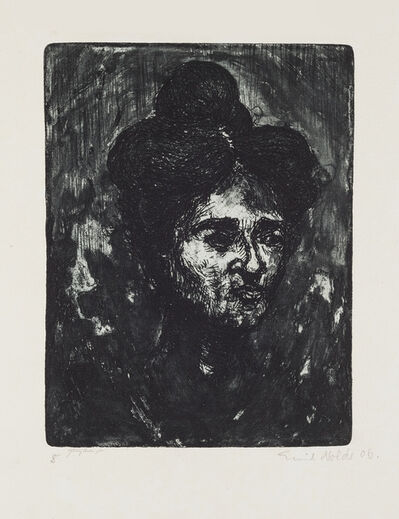 Emil Nolde, 'Polish Woman', 1906