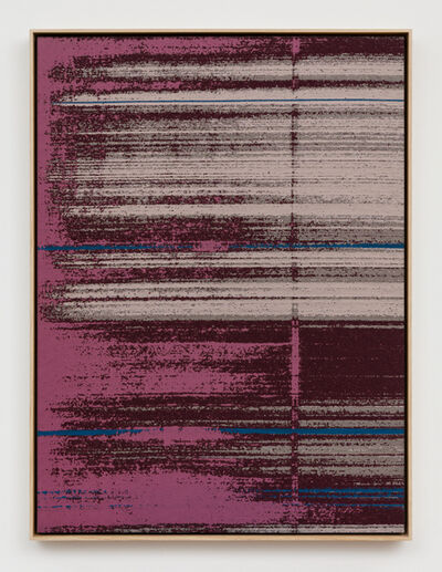 Mika Tajima, 'Negative Entropy (Stripe International Inc., Cultural Planning Department, Fuchsia, Single)', 2019