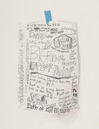 William Powhida, 'Untitled (Dana Schutz)', 2005