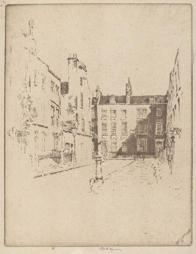 Joseph Pennell, 'Cowley Street, Westminster', 1906