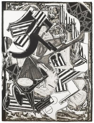 Frank Stella, 'La Penna di Hu black & white', 1988