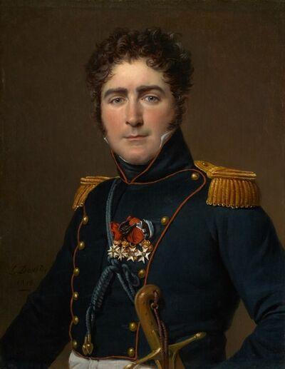 Jacques-Louis David, 'Comte Henri-Amédée-Mercure de Turenne-d'Aynac', 1816