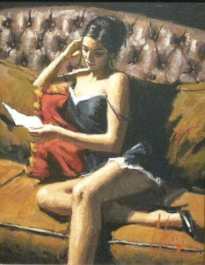 Fabian Perez, 'Study for Saba with Letter VIII', 2013