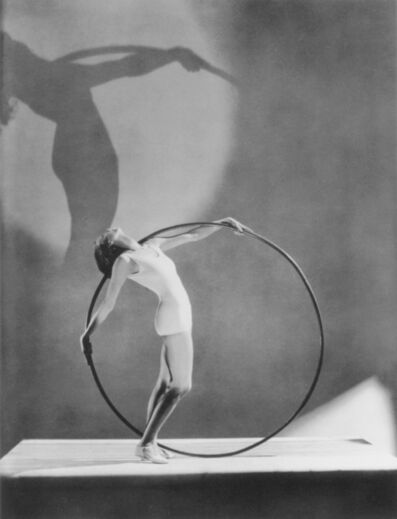 George Hoyningen-Huene, 'Miss E. Carise in Swimwear with Hula Hoop, Paris', 1930
