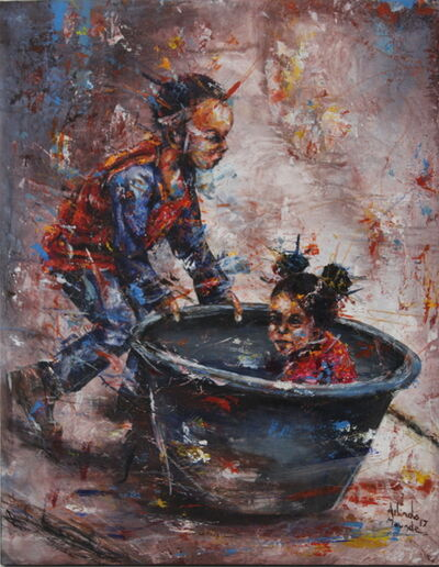 Arlindo Maunde, 'Kid in the bucket', 2017