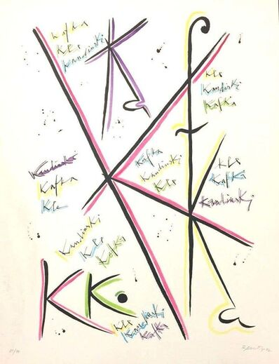Rafael Alberti, 'Letter K', 1972