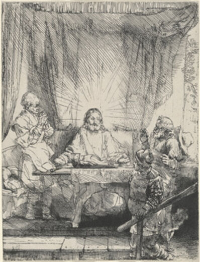 Rembrandt van Rijn, 'Christ at Emmaus: the Larger Plate', 1654