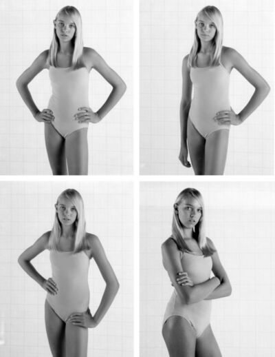 """Charlie White, 'Four Polaroid tests from """"Girl Posed,"""" from the American Minor series', 2008"""