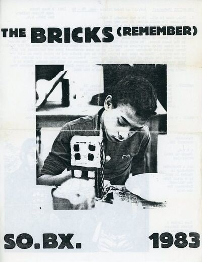 Tim Rollins and K.O.S., 'A More Store, Tim Rollins and K.O.S., The Bricks (Remember), Flyer', 1983