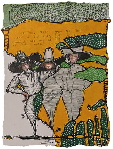 Cheryl Gross, 'Three Cowgirls', 2021