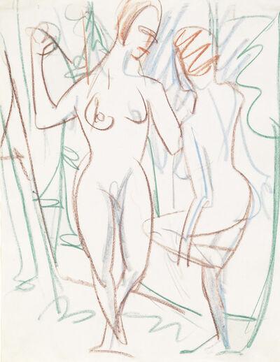 Ernst Ludwig Kirchner, 'Zwei Mädchen im Sertig-Tal', 1926
