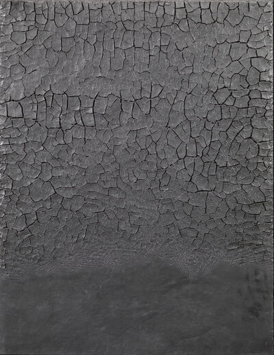 Alberto Burri, 'Nero cretto', 1975