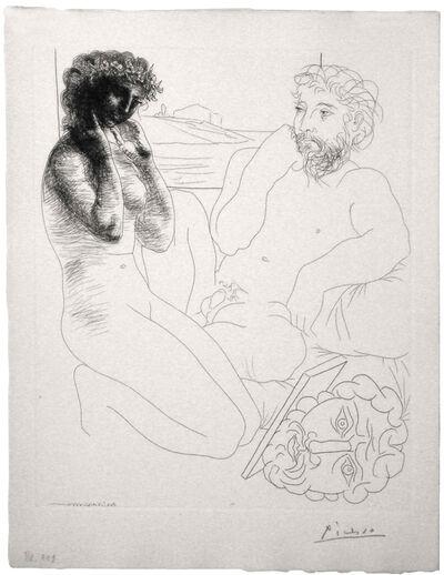 Pablo Picasso, 'Sculpteur et Modèle se regardant dans un Miroir calé sur un Autoportrait sculpté (S.V. 69)', 1933