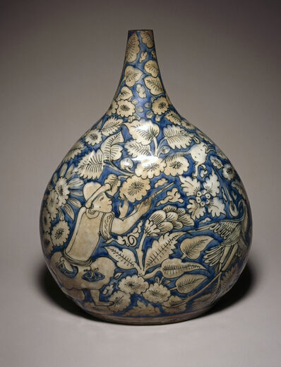 'Bottle Depicting a Hunting Scene', First half 17th century
