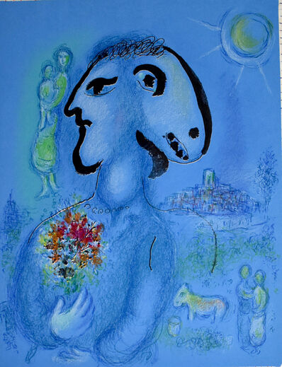 Marc Chagall, 'The Blue Village (Second State) | Le village bleu (2e état)', 1974