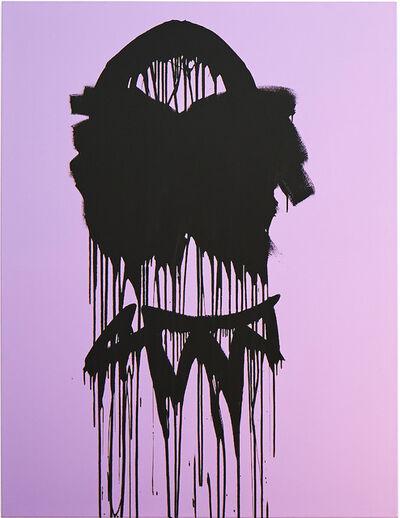 Gary Schlingheider, 'selfportrait purple', 2019