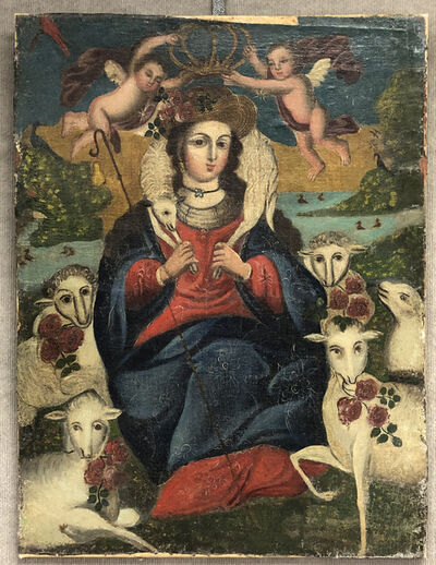 Cuzco School, 'Holy Crowning', (Date unknown)