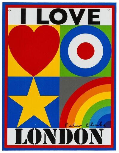 Peter Blake, 'I Love London', 2009