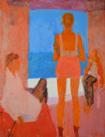 Sargy Mann, 'Three figures by the sea', 2014