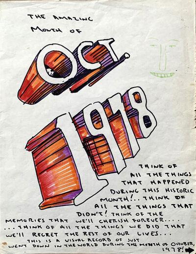 Daniel Johnston, 'The amazing month of Oct. 1978', ca. 1978