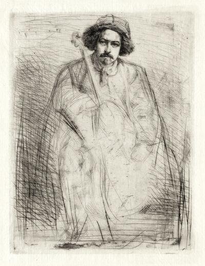 James A. M. Whistler, 'Becquet, Sculptor', 1859