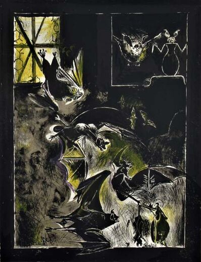 """Graham Vivien Sutherland, 'Chauve-Souris"""" from the suite """"Bestiary and some Correspondences', 1967"""