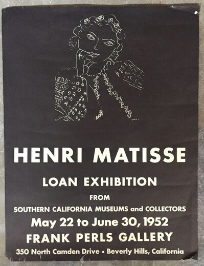 Henri Matisse, 'Original Exhibition Poster', 1951