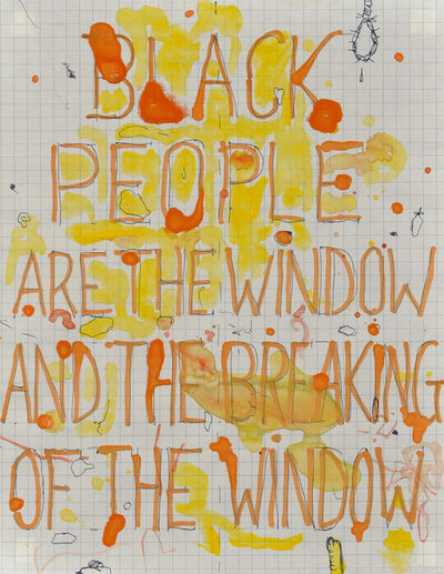 Pope.L, 'Black People Are the Window and the Breaking of the Window', 2004