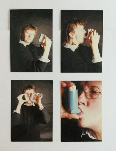 Jo Spence, 'Photo Therapy: Jo Spence as asthmatic young girl', 1986