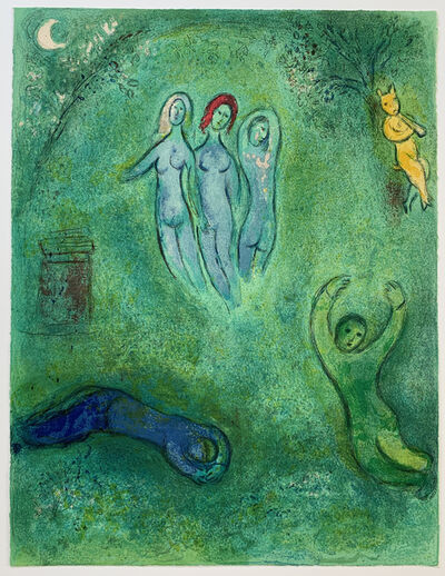Marc Chagall, 'Daphnis' Dream and the Nymphs', 1961