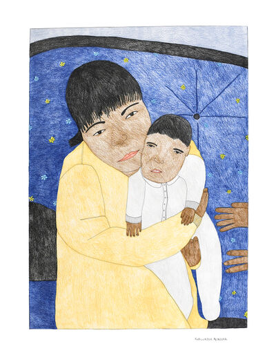 Kudluajuk Ashoona, 'Untitled (Holding Child)', 2019