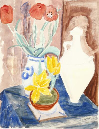Erich Heckel, 'Stilleben mit Blumen und arabischem Krug', 1953