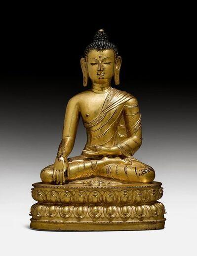 Tibetan, 'Buddha Shakyamuni 释迦牟尼佛', 15th century
