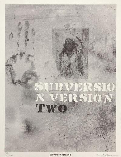 Carl Beam, 'SUBVERSION VERSION 2', ca. 1990