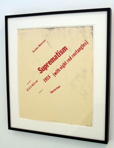 Buzz Spector, 'Suprematism (with eight red rectangles)', 1992