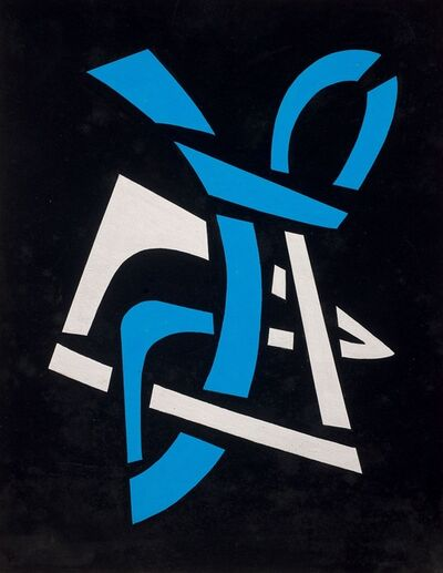 José Pedro Costigliolo, 'Vitral en azul y blanco', ca. 1960