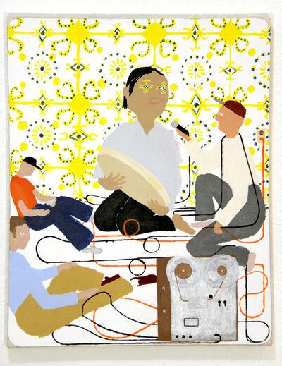 Scoli Acosta, 'Ait M'Hmmed Bendir (painted mosaic)', 2012-2013