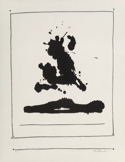 Robert Motherwell, 'New York Internation: Untitled', 1966