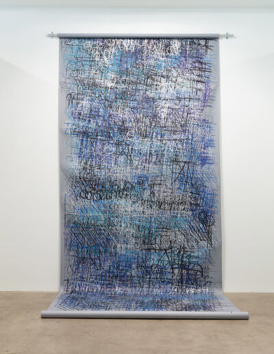 Dan Miller, 'Untitled (Large grey and blue scroll)', 2017