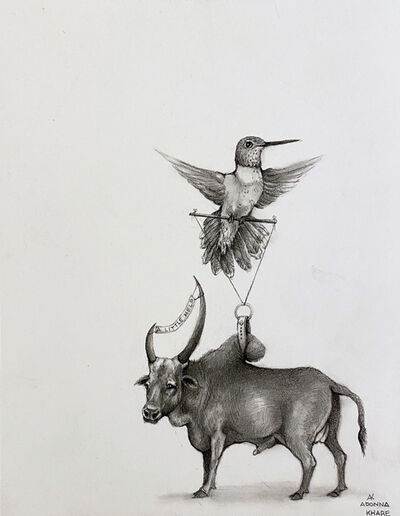 Adonna Khare, 'Hummingbird and Zebu', 2021
