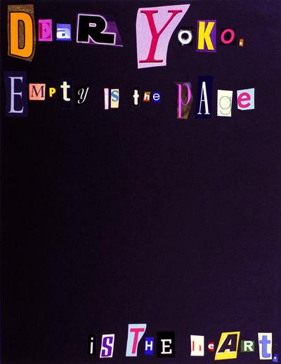 Tammy Rae Carland, 'Dear Yoko', 2003