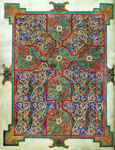 'Carpet page from the Lindisfarne Gospels', ca. 698-700