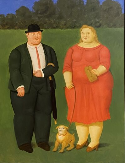 Fernando Botero, 'The couple with the dog ', 2020