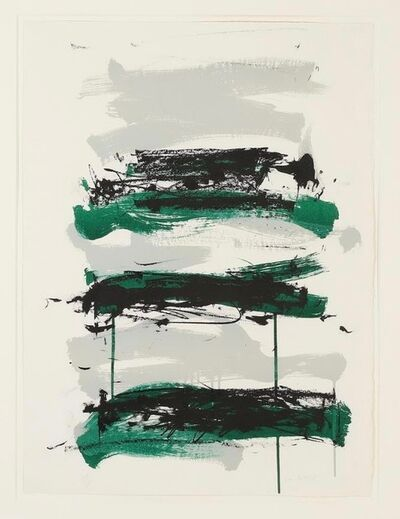 Joan Mitchell, 'Champs (fields) (Black, green, gray)', 1991
