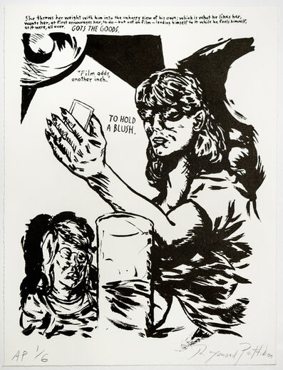 Raymond Pettibon, 'Untitled (Hold a Blush...)', 2018