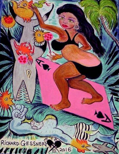 Richard Gessner, 'Ace of Spades Surf Goddess', 2016