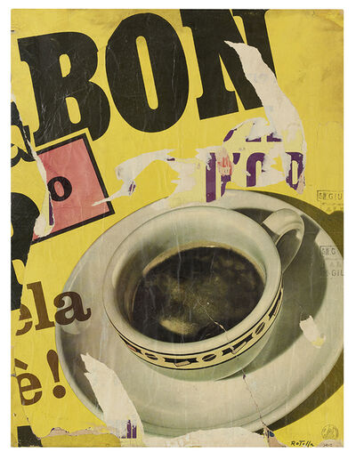 Mimmo Rotella, 'Coffee Cup', 1962