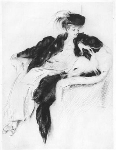 Jacques Villon, 'La femme au Chien Collley', 1905