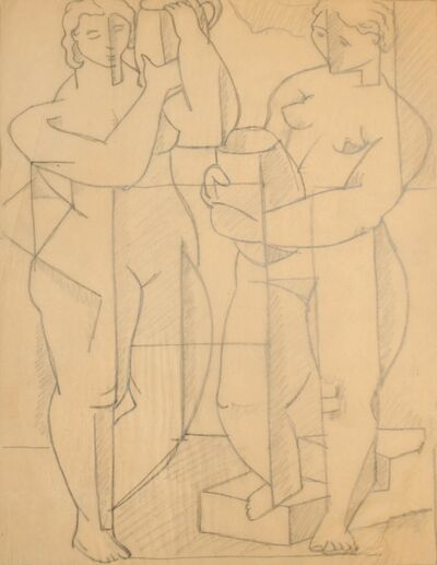 R. Leroy Turner, 'Two Nudes', ca. 1930s