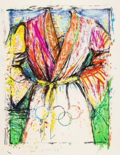 Jim Dine, 'Olympic Robe, from Official Arts Portfolio of the XXIVth Olympiad, Seoul, Korea', 1988